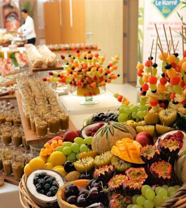 Buffet, réception, fruits frais